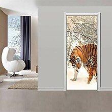 Fototapete Türfolie 3D Türaufkleber 3D Tiger