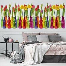 Fototapete Tulpen in Glasflaschen 2,5 m x 104cm