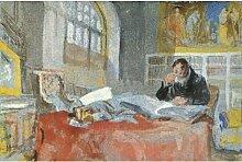 Fototapete Turner in seinem Atelier, 1835 - 1837,
