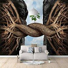 Fototapete Verbundene Wurzeln Mauer Fresco Foto