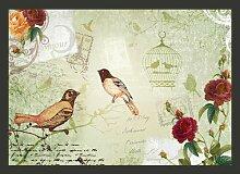 Fototapete Vintage birds 210 cm x 300 cm