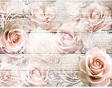 Fototapete Vintage Blumen Rosen 352 x 250 cm -