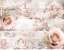 Fototapete Vintage Blumen Rosen - Vlies Wand