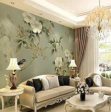 Fototapete Vintage Blumen Vlies Tapete Wohnzimmer