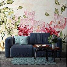 Fototapete Vintage Blumenrose 3D Wallpaper Für