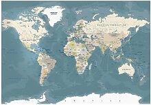 Fototapete Vintage World Map
