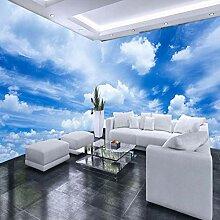 Fototapete Vlies - Blauer Himmel mit weißen