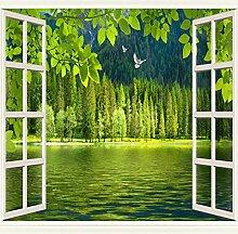 Fototapete Vlies Fenster und Seewasser 3D