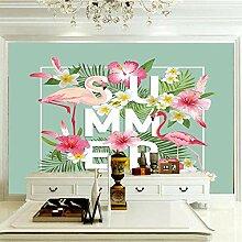 Fototapete Vlies Flamingo Leinwand Wandbild