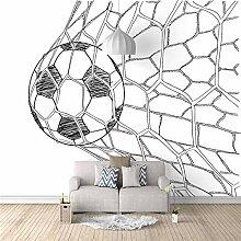 Fototapete Vlies Fußball 3D Wandbild Aufkleber