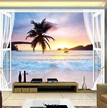 Fototapete Vlies Kokosnussbaum Sonnenuntergang 3D
