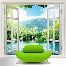 Fototapete Vlies Magisches Fenster 3D Vliestapete
