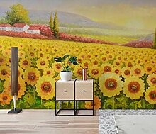 Fototapete Vlies Ölgemälde Sonnenblume 3D
