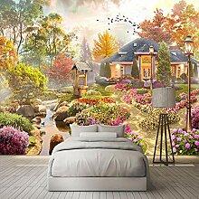 Fototapete Vlies Tapete Gelber sonniger Garten