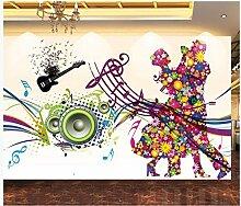 Fototapete Vlies Tapete Gemalte musikalische