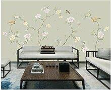 Fototapete Vlies Tapete Hellgrüne Blumen und