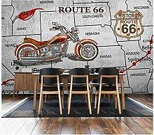 Fototapete Vlies Tapete Motorradkarte segeln