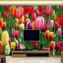 Fototapete Vlies Tapete Rote Tulpenblume