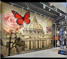 Fototapete Vlies Tapete Roter Schmetterling des