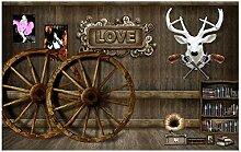 Fototapete Vlies Tapete Tierbrett Elchräder aus