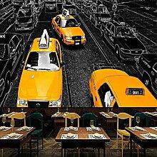 Fototapete Vlies Taxi Leinwand Wandbild Kunstdruck