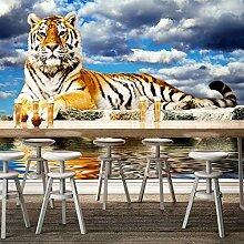 Fototapete Vlies Tiger, Himmel 3D Wandbilder Vlies