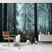 Fototapete Vlies Wald, Elch 3D Wandbilder Vlies