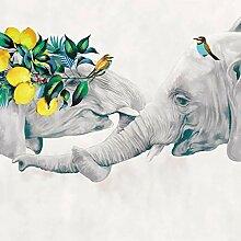 Fototapete Vlies Wanddeko Abstrakter Elefant 200CM