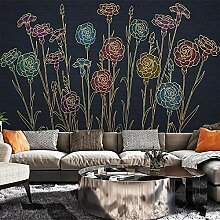 Fototapete Vlies Wanddeko Blumen 200CM x 140CM