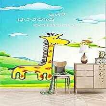 Fototapete Vlies Wanddeko Cartoon Tiergiraffe
