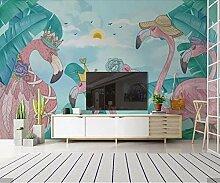 Fototapete Vlies Wanddeko Flamingo 200CM x 175CM