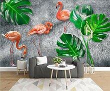 Fototapete Vlies Wanddeko Flamingo 350CM x 256CM