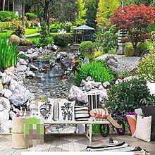 Fototapete Vlies Wanddeko Gartenteich 200CM x