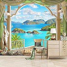 Fototapete Vlies Wanddeko Insel mit Meerblick