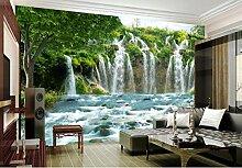 Fototapete Vlies Wanddeko Wasserfall Fluss 250CM x