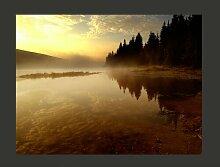 Fototapete Wald und See 231 cm x 300 cm