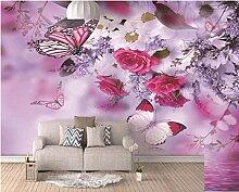 Fototapete Wandbild 250x175cm Rosa Romantischer