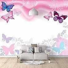Fototapete Wandbild 350x256cm Rosa Schmetterling