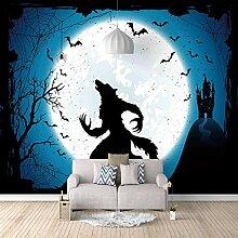 Fototapete Wandbild 430x300cm Mond Wolf,Wandbild