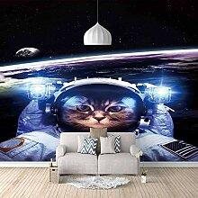 Fototapete Wandbild Astronautenkatze Fernseher