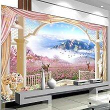 Fototapete Wandbild Balkon Garten Landschaft