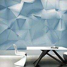 Fototapete Wandbild Blaue Geometrie Fernseher Sofa