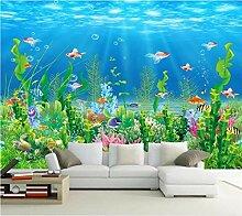 Fototapete Wandbild Blumenmuster Goldfisch Effekt