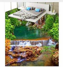 Fototapete Wandbild Boden Bergfluss Wasserfall Bad