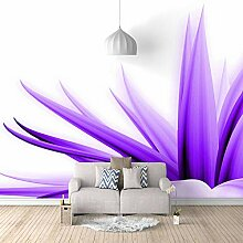 Fototapete Wandbild Frische lila Blüten Fernseher