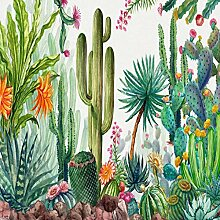 Fototapete Wandbild Grüner Kaktus Fernseher Sofa