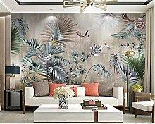Fototapete Wandbild handbemalt Pflanze Blätter