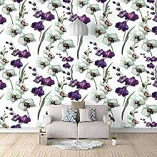 Fototapete Wandbild Orchidee Fernseher Sofa