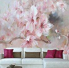 Fototapete Wandbild Romantische Rosa Kirschblüte