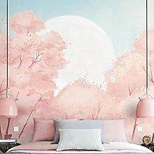 Fototapete Wandbild Rosa romantische Kirschblüte